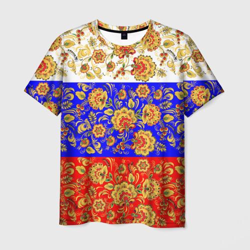 Мужская футболка 3D Хохлома