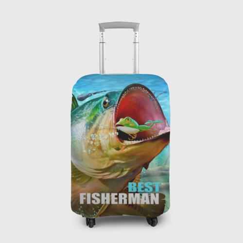 Чехол для чемодана 3D Лучший рыбак