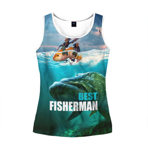 Женская майка 3D Лучший рыбак