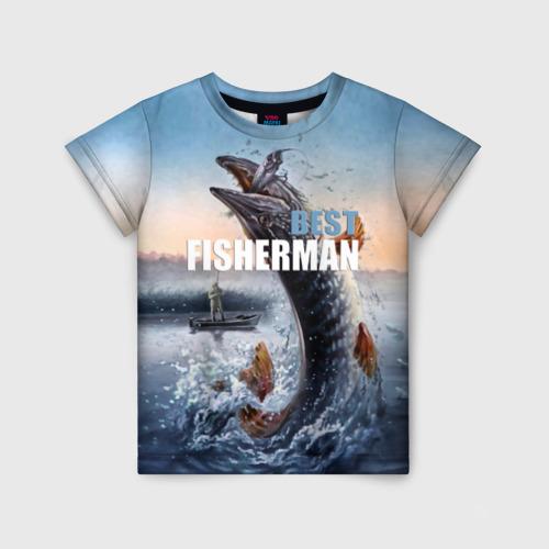 Детская футболка 3D Лучший рыбак