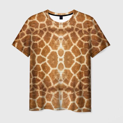 Мужская футболка 3D Шкура Жирафа