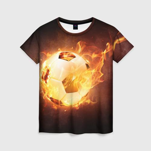 Женская футболка 3D Мяч