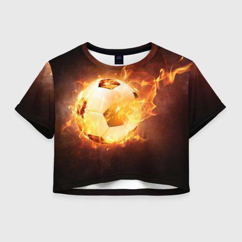 Женская футболка Crop-top 3D Мяч