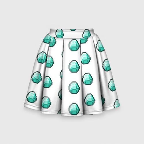 Детская юбка-солнце 3D Minecraft diamond