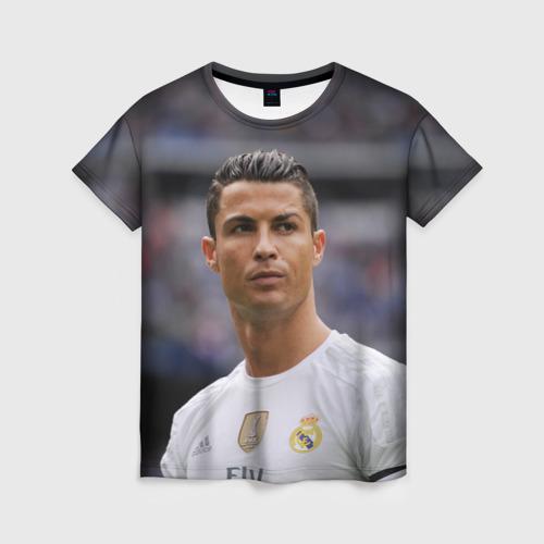 Женская футболка 3D Cristiano Ronaldo