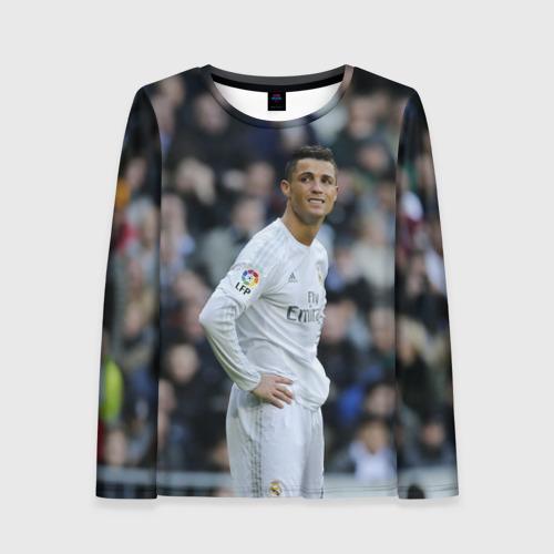 Женский лонгслив 3D Cristiano Ronaldo