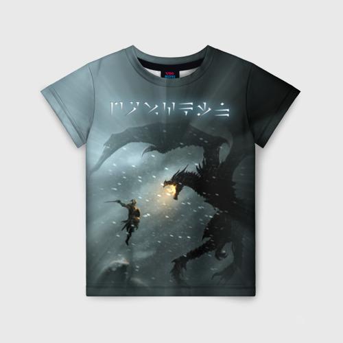 Детская футболка 3D Skyrim