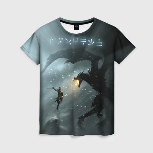Женская футболка 3D Skyrim