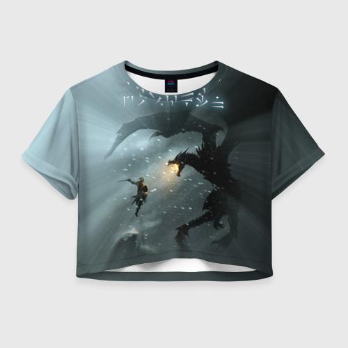 Женская футболка Crop-top 3D Skyrim
