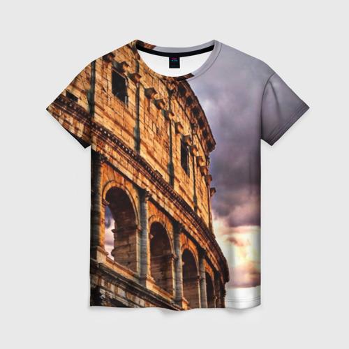 Женская футболка 3D Колизей