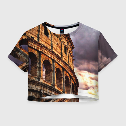 Женская футболка Crop-top 3D Колизей