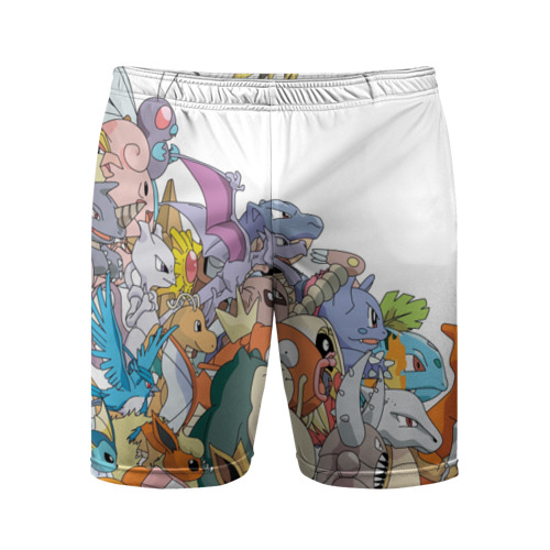 Мужские шорты спортивные Покемоны