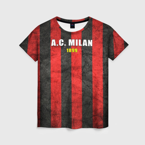 Женская футболка 3D A.C. Milan