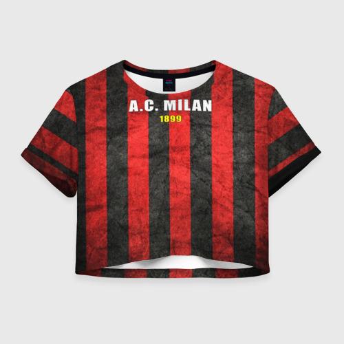 Женская футболка Crop-top 3D A.C. Milan