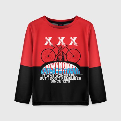Детский лонгслив 3D Amsterdam t-shirt
