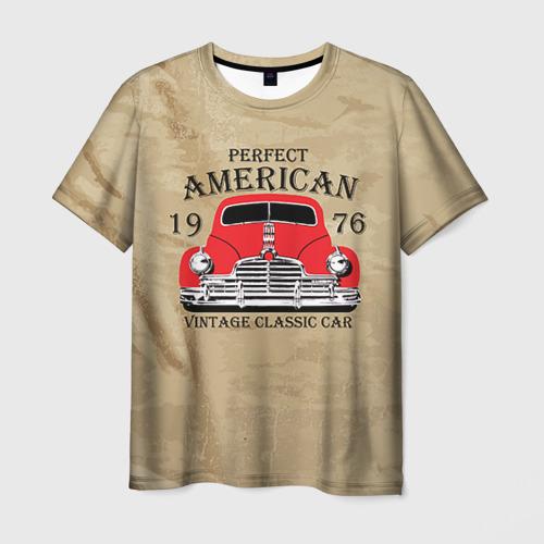 Мужская футболка 3D American retro auto