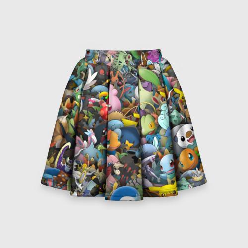 Детская юбка-солнце 3D Покемоны. Стикербомбинг