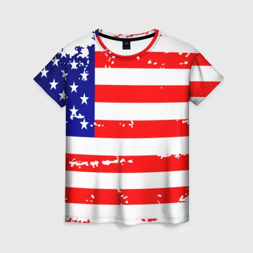 Женская футболка 3D Америка