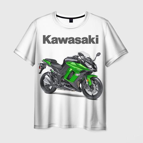 Мужская футболка 3D Kawasaky Ninja 1000