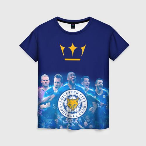 Женская футболка 3D FC Leicester. Vardi