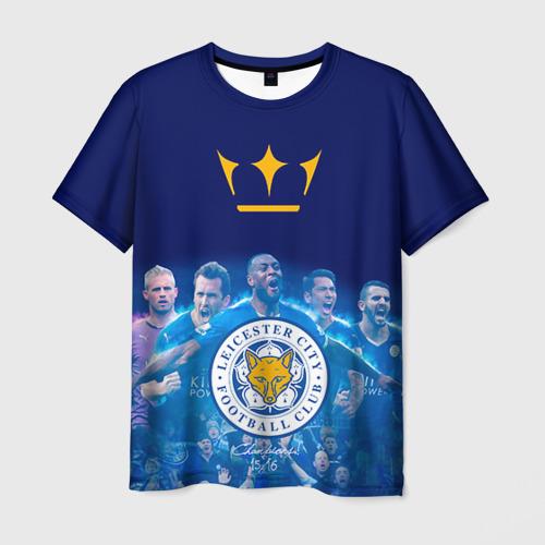 Мужская футболка 3D FC Leicester. Vardi