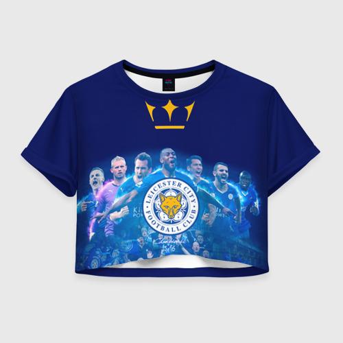 Женская футболка Crop-top 3D FC Leicester. Vardi