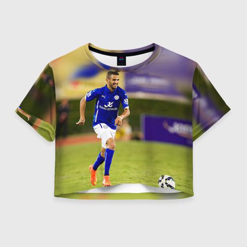 Женская футболка Crop-top 3D Рияд Махрез