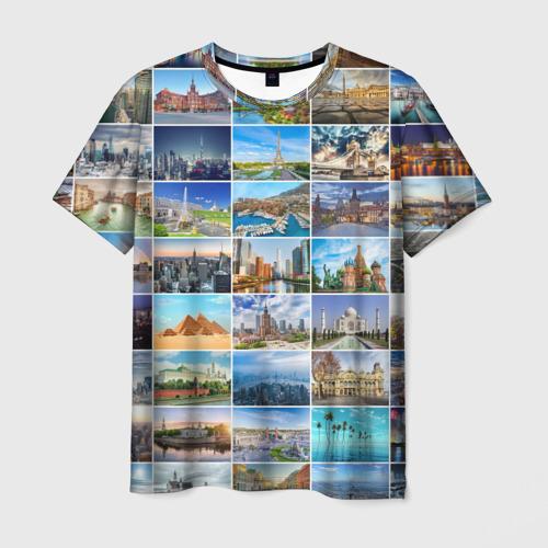 Мужская футболка 3D Достопримечательности планеты