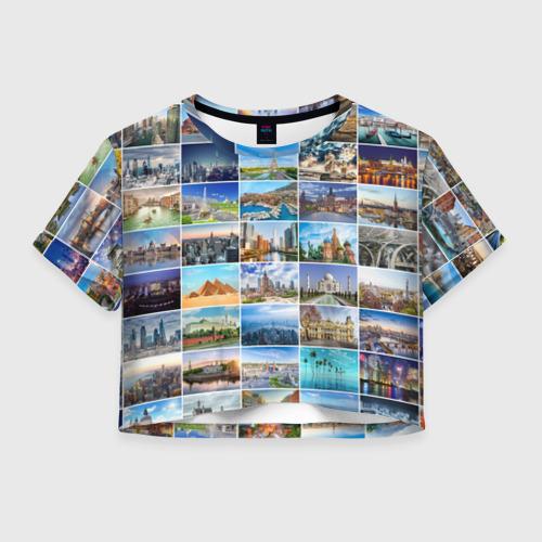 Женская футболка Crop-top 3D Достопримечательности планеты