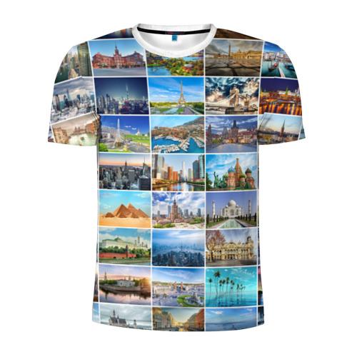 Мужская футболка 3D спортивная Достопримечательности планеты