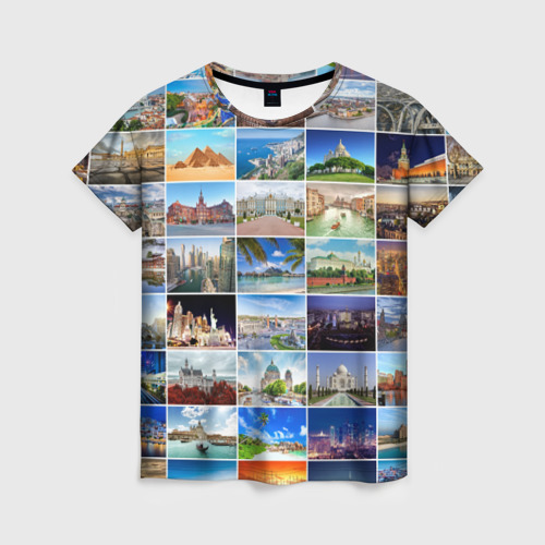 Женская футболка 3D Путешественник