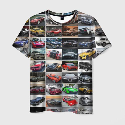 Мужская футболка 3D Лучшие авто