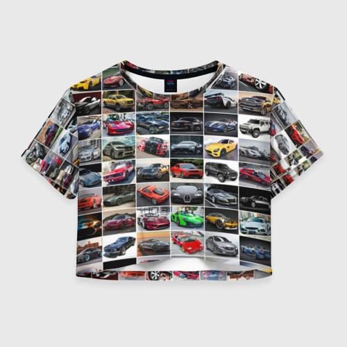 Женская футболка Crop-top 3D Лучшие авто