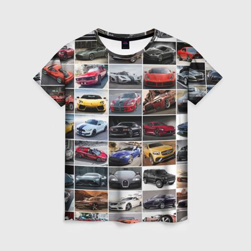 Женская футболка 3D Элитные авто