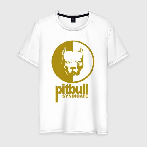 Мужская футболка хлопок Питбуль