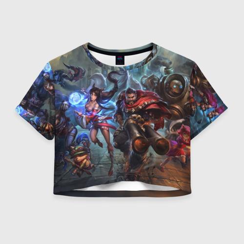 Женская футболка Crop-top 3D League of legends