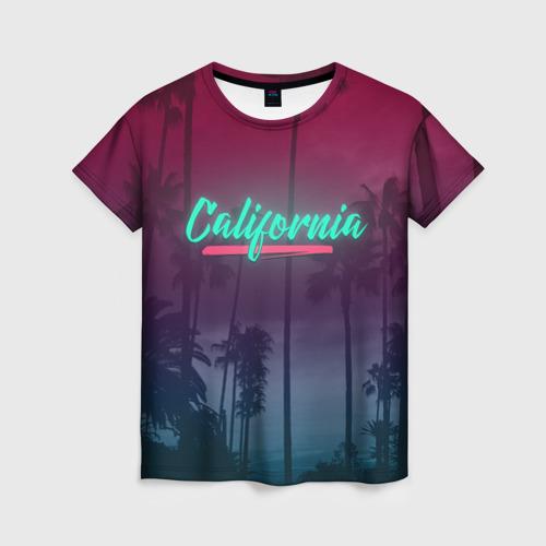 Женская футболка 3D California