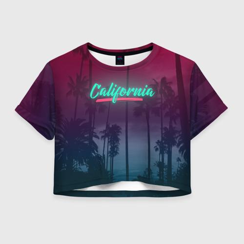 Женская футболка Crop-top 3D California