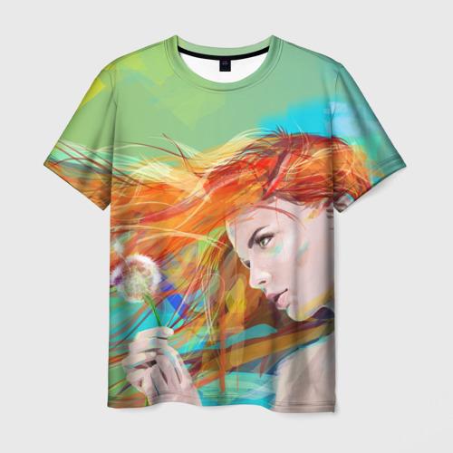 Мужская футболка 3D Летняя пора