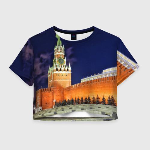 Женская футболка Crop-top 3D Кремль