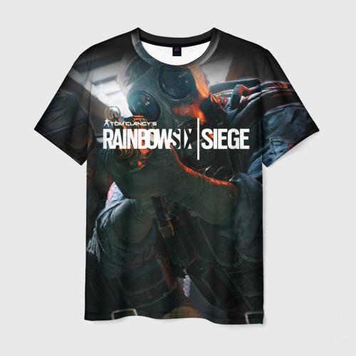 Мужская футболка 3D Rainbow six   Siege