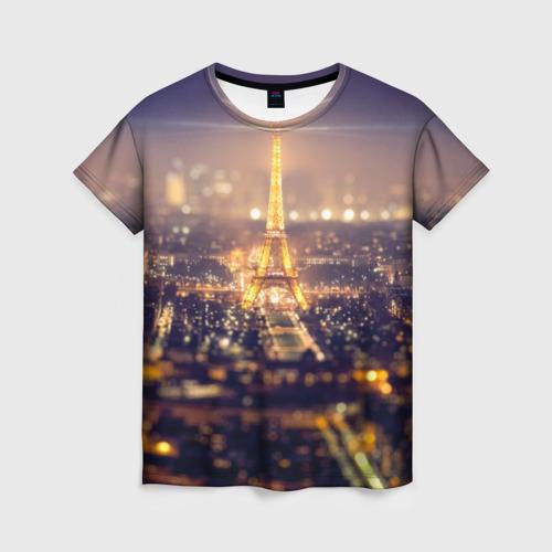 Женская футболка 3D Эйфелева башня