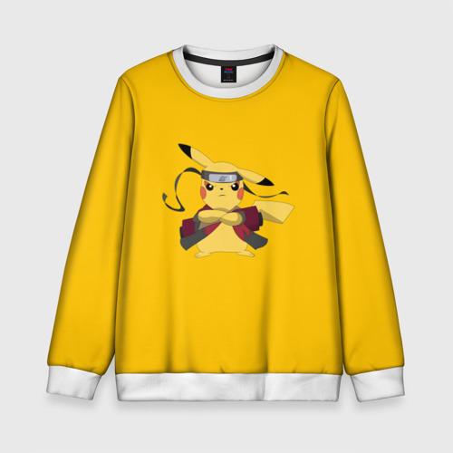 Детский свитшот 3D Pikachu (Naruto Sage Mode)