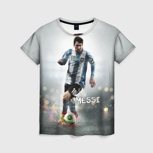 Женская футболка 3D Leo Messi