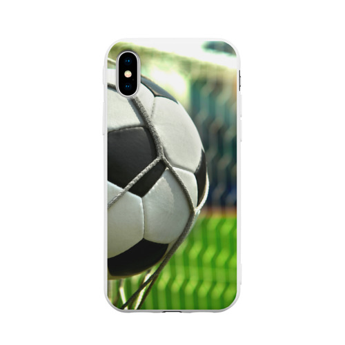 Чехол для iPhone X матовый Футбол