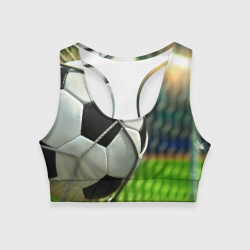 Женский спортивный топ 3D Футбол