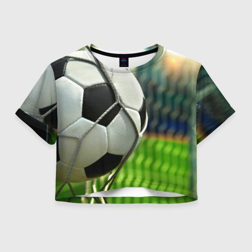 Женская футболка Crop-top 3D Футбол