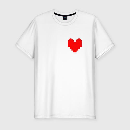 Мужская футболка хлопок Slim Undertale Heart