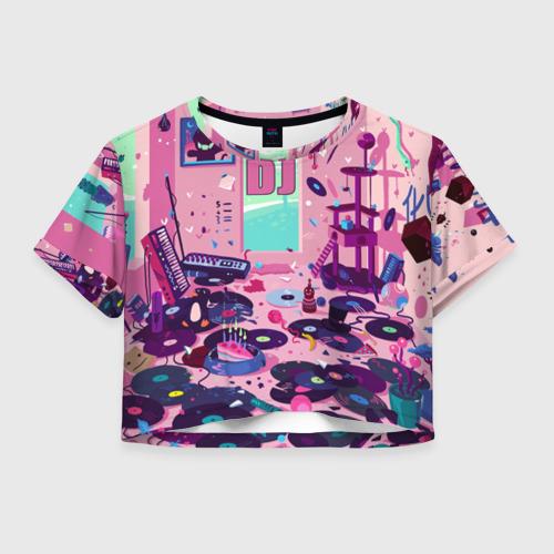 Женская футболка Crop-top 3D DJ