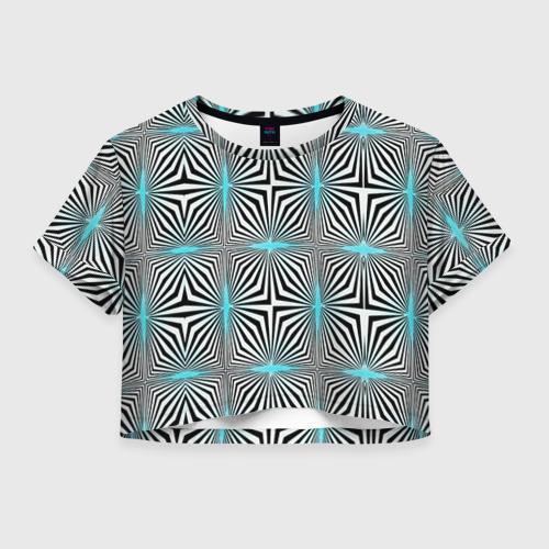 Женская футболка Crop-top 3D Фэшн 1